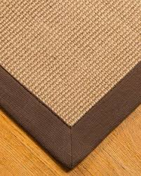 sierra jute rug 100 natural jute wide cotton border non slip contemporary area rugs by natural area rugs