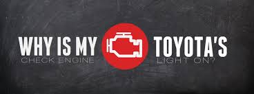 Why is my Toyota's check engine light on?