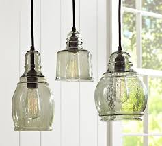 paxton glass single pendants pottery barn intended for blown pendant lights idea 6