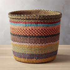 woven basket with lid. Joya Multi-color Basket Woven With Lid