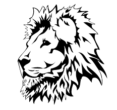 lion face black and white clipart.  Clipart Lion Head Drawings  Clipart Library Inside Face Black And White L