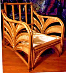 Vintage art deco furniture Famous Movie Image Is Loading Antiquevintageartdecosofachairwickerpalm Ebay Antique Vintage Art Deco Sofa Chair Wicker Palm Bamboo Garden Patio