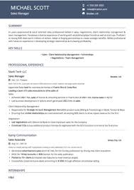 Sales Resume Examples And Samples