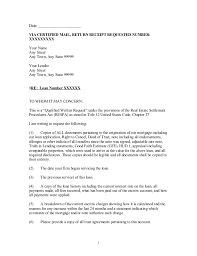 Payment History Letter Template Writing A Certified Letter Template