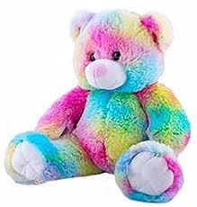 Amazon Com Cuddly Soft 16 Inch Stuffed Rainbow Bear We Stuff Em