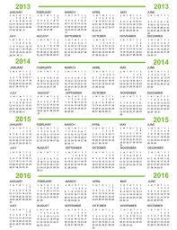 Calendario 2013 2014 2015 Y 2016 Todo En Uno Solo Calendario 2015