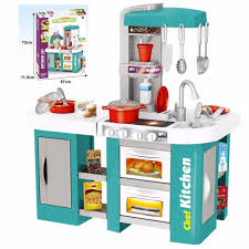 Toy Kitchen With Lights And Sound Childs Electronic Pretend Toy Kitchen Role Play Set Lights