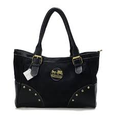 Discount Coach Stud In Signature Medium Black Satchels Buc Outlet UZhxX