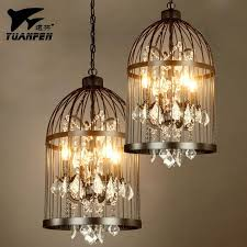 birdcage crystal pendant lights lron art living room birdcage lighting iron loft pendant lamp with e14 bulb 35 45cm pendant lamp crystal pendant lights