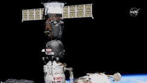 Soyuz capsule swaps docking <b>ports</b> on space station, clearing way ...