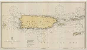Puerto Rico Charts Puerto Rico Map Historical Chart 1931