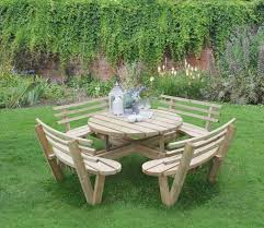 forest circular picnic table with seat backs gardensite co uk round 8 seater 5164ce5e5243776fc28dc2f9449d4b9 840
