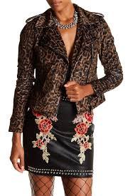 image of romeo juliet couture leopard moto jacket