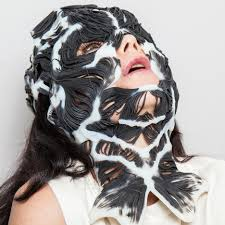 Whole Mask Designs Björk Unveils 3d Printed Rottlace Mask Based On Her Face
