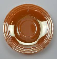 Fire King Patterns Mesmerizing Anchor Hocking Fire King Oven Ware Saucer Peach Lustre Three Bands