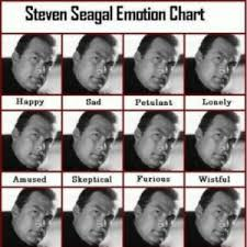 Steven Seagal Emotion Chart Happy Sad Petulant Lonely