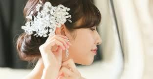 顔周りがパッと華やぐ大ぶりな花嫁ピアスイヤリング12選