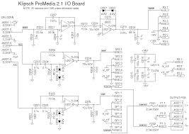 klipsch promedia v2 1 amplifier repair schematic diagram of i o board