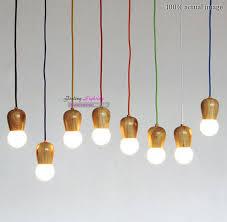 original wood muuto e27 socket suspension lamp lights diy hanging wood lamp holder pendant no bulbs e27 a19 e27 12w e27 led light bulb with