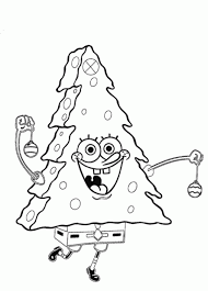 Spongebob Coloring Pages For Kids Xmas Tree Cartoon Coloring Pages