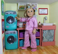 awesome american girl laundry room diy washer dryer from pampers wipes image for doll furniture inspiration