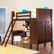 launching bunk bed with desk and drawers kenai loft dresser epoch design