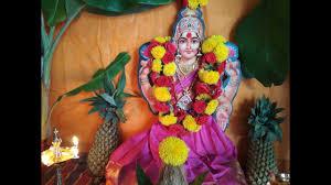 Lakshmi Rupu Blouse Designs Varalakshmi Devi Vratham Simple Pooja Decoration By Lakshmi