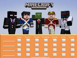 Minecraft Sticker Chart Minecraft Positive Reinforcement Training Chart Behaviour