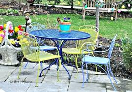 painting wrought iron patio furniture paint for metal garden furniture endearing wrought iron patio furniture very