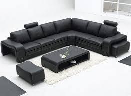 black leather modern sectional sofa wottoman  coffee table