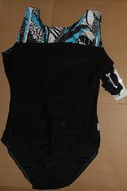 Destira Leotard Size Chart Details About Nwt Destira Gymnastic Black Leotard With Turquoise Foil Dot Design Ladies Xl