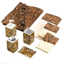 Cheetah Print Decor Leopard Bathroom Decor Ensemble Set Wholesale At Koehler Home