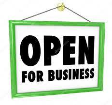 Image result for open for business sign
