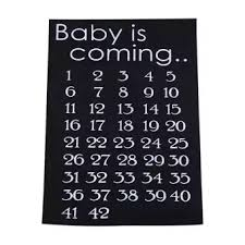 Baby Countdown Calendar Baby Coming Countdown Maternity T Shirt Fabric Clothing Calendar Countdown T Shirts Sticker For Baby Celebration Birthday Birth Day