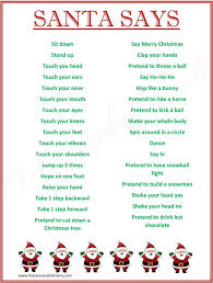 Santa Says Game for Christmas Parties {FREE PRINTABLE