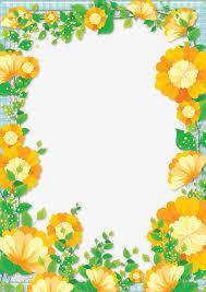fl border design graphic design flowers frame png image and clipart
