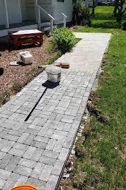 how to create a diy paver walkway