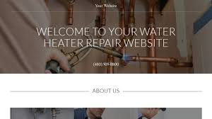 Heater Fixer Water Heater Repair Website Templates Godaddy