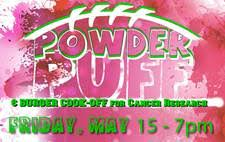 powder puff football flyers annual powder puff game and burger cook off may 15 2015 lake