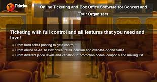 Event Ticket Printing Software Online Ticketing And Box Office Software For Concert And Tour