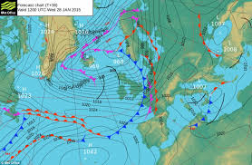 surface pressure charts uk weather predicts arctic blast to bring four inches of snow