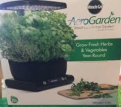 aerogarden miracle gro led harvest with gourmet herbs seed pod kit black