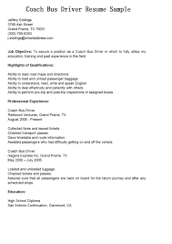 Simple Experience And Executive For Bus Driver Resume Sample