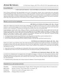 Loan Officer Resume Example Examples Of Resumes