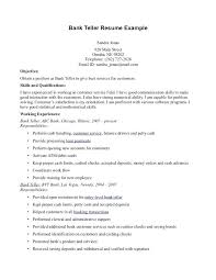 Career Objective For Resume For Bank Jobs Best of Objective For Bank Teller Resume Teller Resume Samples Cashier