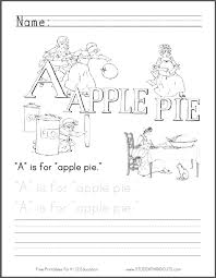 Small Picture A Is for Apple Pie Coloring Page Student Handouts