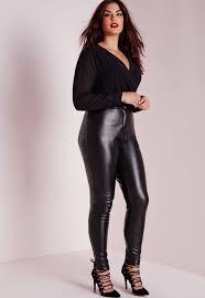 gallery women s black leather pants