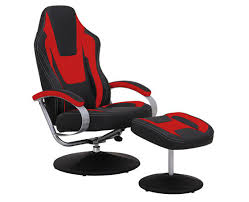 durable pvc home office chair. Black \u0026 Red Vinyl Recliner Home Office Desk Chair With Ottoman / Adjustable Computer Durable Pvc