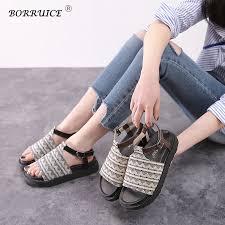<b>BORRUICE Summer Women</b> Shoes 2018 Fashion Casual Roman ...