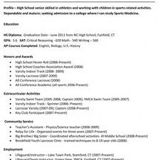 the stylish sample college resume high school senior resume sample of a college resume